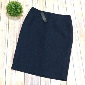 Talbots | NWT Navy Textured Pencil Skirt 6